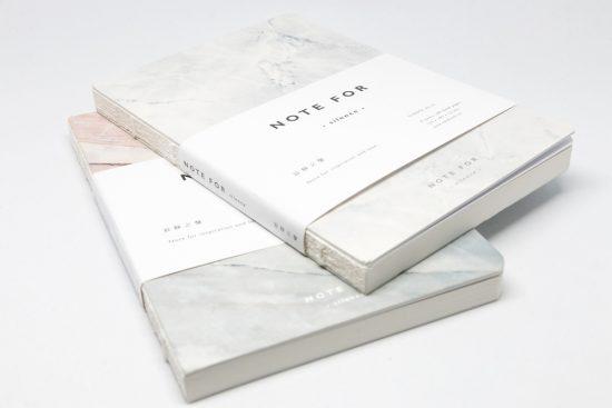 Cuaderno de bolsillo portada blanco y gris