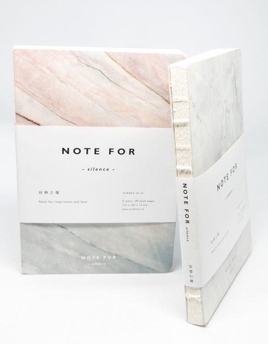 Cuaderno de bolsillo portada mármol rosa y gris