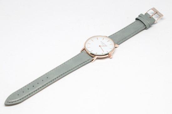 "Reloj ""Elegant"" cobre con correa gris"