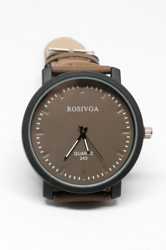 Reloj unisex esfera y correa marrón