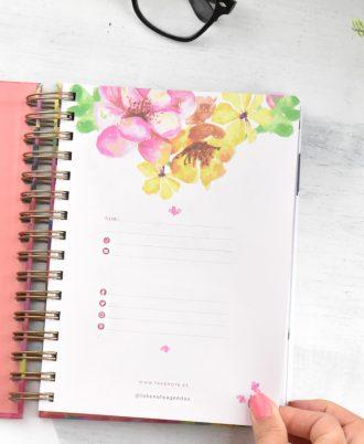 pagina agenda 2020 acuarela flores