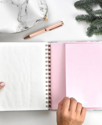 portadocumentos agenda 2020 marmol flechas turquesa rosas