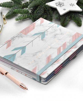 agenda 2020 marmol flechas turquesa rosas