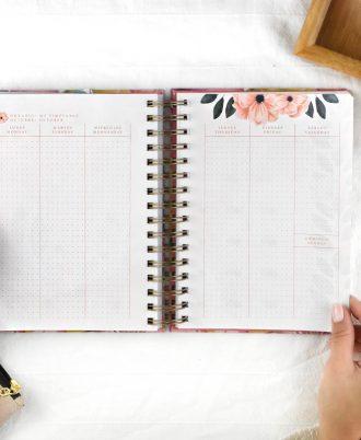 agenda 2020 diseño flores