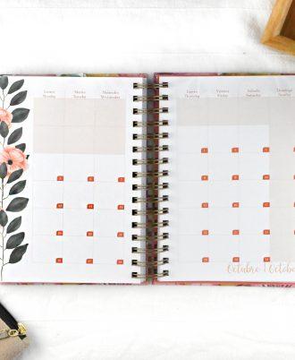 agenda 2020 diseño florido