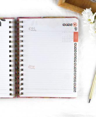 pagina agenda 2020 diseño flores