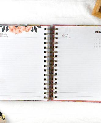 pagina planificacion agenda 2020 diseño flores