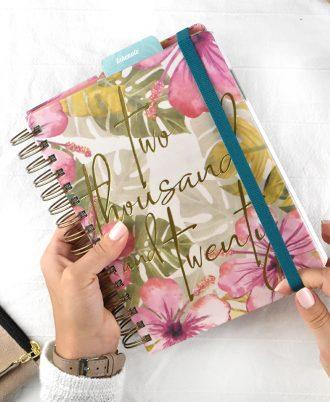 goma agenda 2020 diseño flores
