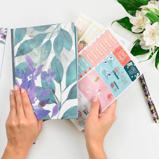 pegatinas Agenda 2020 new lila