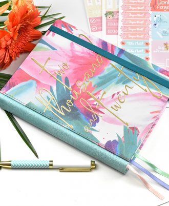 agenda diseño 2020 colores pastel vegetal