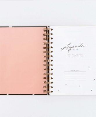 primera pagina agenda negra puntos blancos diseño