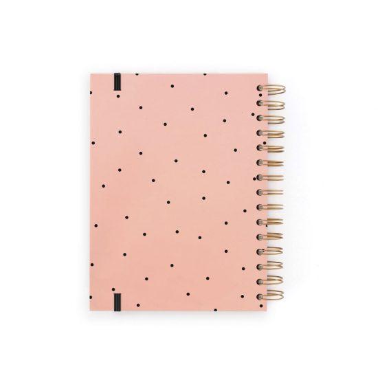 Agenda perpetua rosa con topos negros Charuca