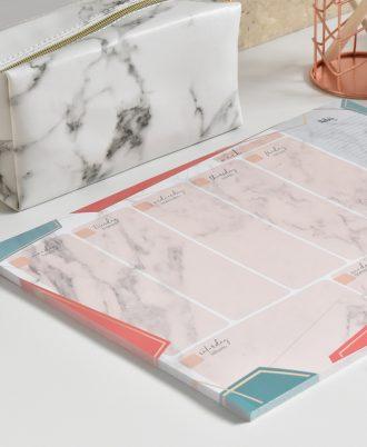 calendario semanal marmol perpetuo