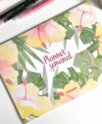 planner semanal tropic