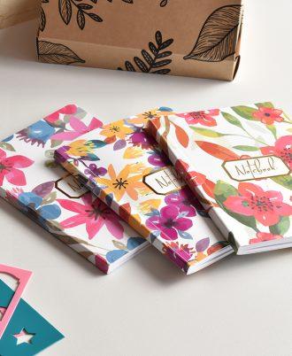 bullet journal bolsillo flores