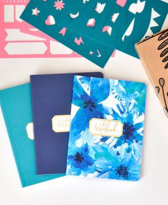 bullet journal bolsillo azul