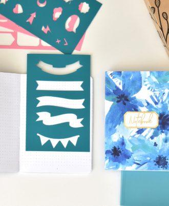 bullet journal bolsillo azul plantillas