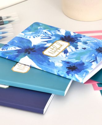 bullet journal bolsillo diseño azul