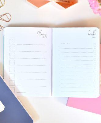 indice bullet journal puntos mármol rosa