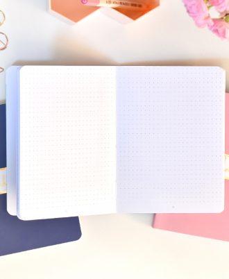 pagina bullet journal puntos mármol rosa