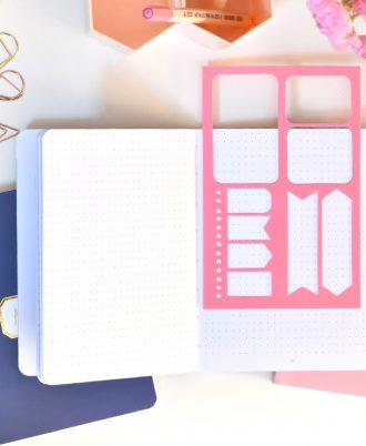 plantillas bullet journal puntos mármol rosa