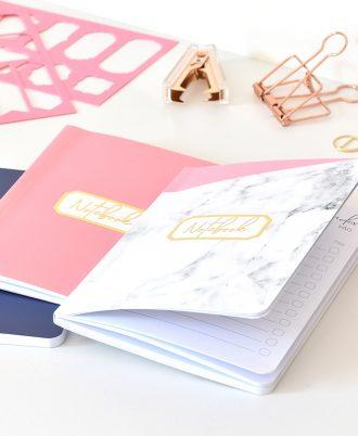 bullet journal puntos mármol rosa