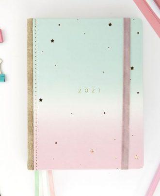 agenda diseño difuminado 2021