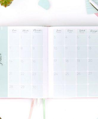 calendario agenda 2001 turquesa