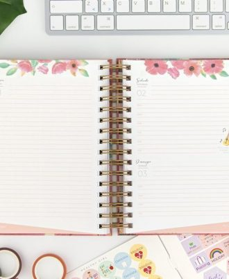 agenda flores diseño 2021