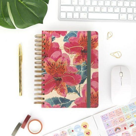 agendas de diseño flores 2021