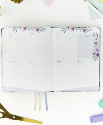 semana vista agendas flores 2021