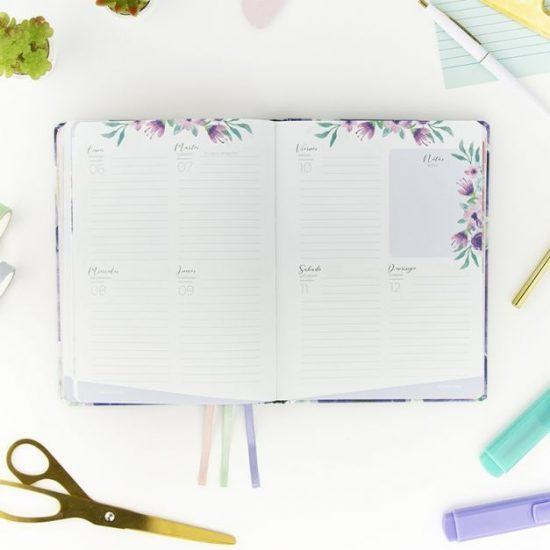 Agenda 2021 Violeta Semana Vista A5